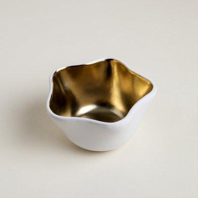 BOWL DE CERÁMICA ESTRELLA LINEA GOLD 10.8x10.4x5.9 CM   150CC