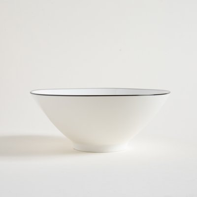BOWL DE CERAMICA BLACK AND WHITE LISO 23X9.5CM
