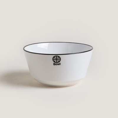 BOWL DE CERAMICA BLACK AND WHITE LISO 13.8X7CM