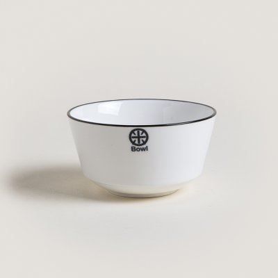 BOWL DE CERAMICA BLACK AND WHITE LISO 11.4X6.2CM