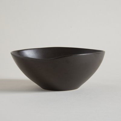 BOWL IRREGULAR DARK BROWN LINEA DAKAR 27 X 11 CM