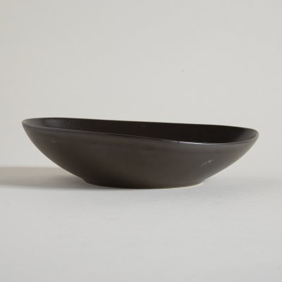 BOWL BAJO IRREGULAR DARK BROWN LINEA DAKAR 27,5 X 6,5  CM