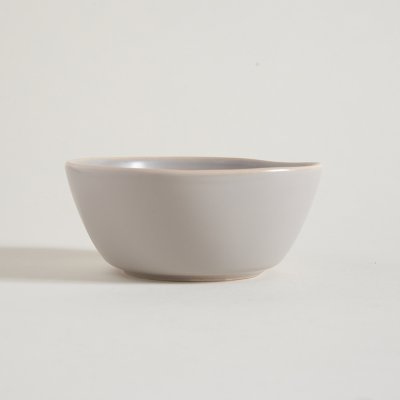 BOWL DE CERAMICA GRIS BORDE NATURAL MONASTIR 15CM 450ML