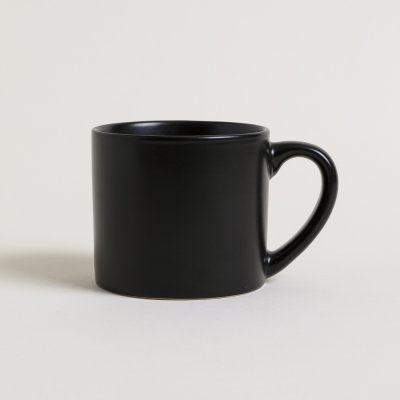 MUG  NEGRO MATE INTERIOR BRILLANTE 400 ML