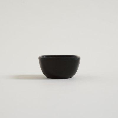 BOWL DE MELAMINA NEGRA TOKIO CUADRADO 6.6x3.2 CM