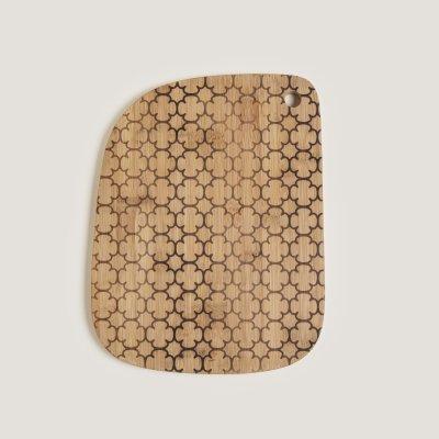 TABLA BAMBOO IRREGULAR DISEÑO TREBOL 36.5x28.5x1.5CM