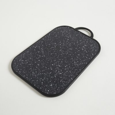 TABLA DE PICAR CON PANZA BLACK GRANITE 38x30CM