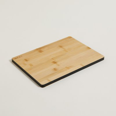 TABLA DE BAMBOO BORDE NEGRO RECTANGULAR 33X24 CM