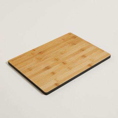 TABLA DE BAMBOO BORDE NEGRO RECTANGULAR 39X28 CM