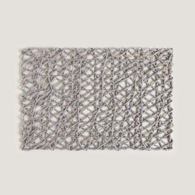 INDIVIDUAL DE PAPEL DHAKA RECTANGULAR GRIS OSCURO 45x30CM