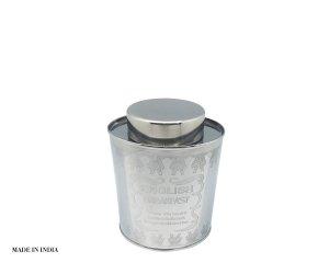 FRASCO OVAL HERMETICO ACERO INOX  17 X 12,5 CM