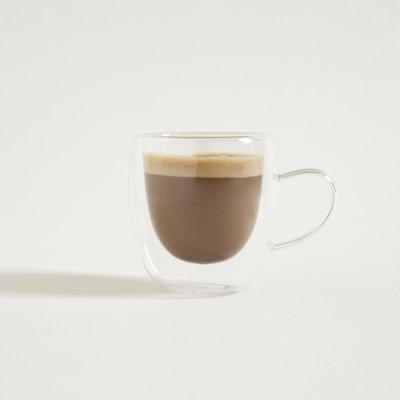 MUG DE CAFÉ BOMBEE DOBLE VIDRIO 150 ML