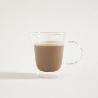 MUG DE CAFÉ DOBLE VIDRIO 300 ML