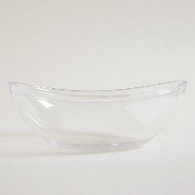 ENSALADERA OVAL  ACRILICO 31 X 10 CM LINEA GLA GLAS