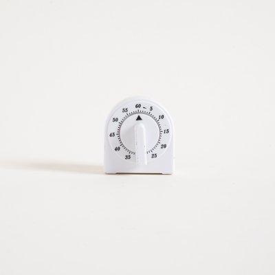 TIMER BLANCO GEOMETRICO 6,5X6 CM