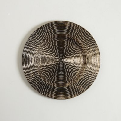 BANDEJA LINEA INDIAN BRASS TRAMA RAYAS 27,5CM