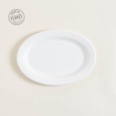 BANDEJA DE ACRILICO OVAL WHITE 22,5X31CM