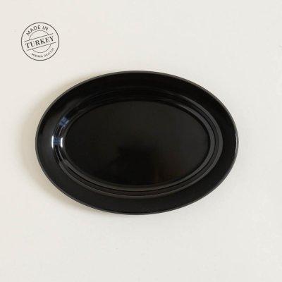 BANDEJA DE ACRILICO OVAL BLACK 22,5X31CM