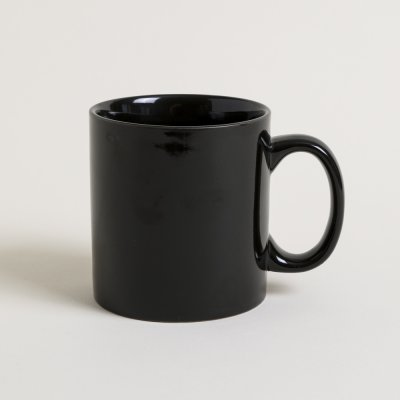 MUG RECTO NEGRO SATINADO  250 ML