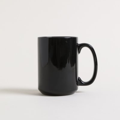 MUG RECTO NEGRO BRILLANTE 420 ML