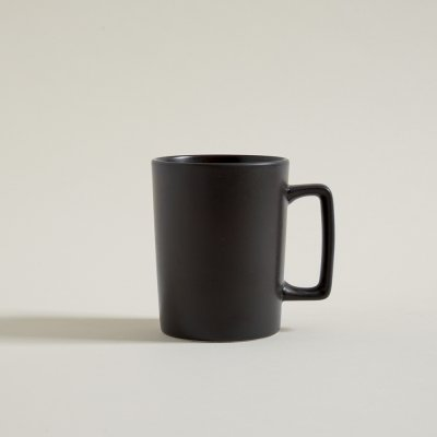 MUG RECTO DARK GRAY ASA RECTA 400 ML