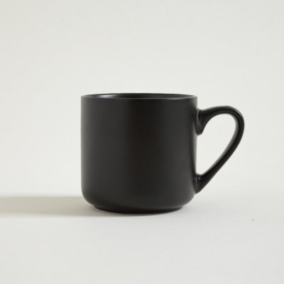 MUG NEGRO SATINADO 400ML