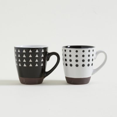 JARRITO MUG PSICO WHITE  BLACK CON BASE 236 ML