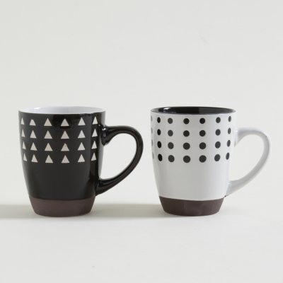 JARRITO MUG PSICO WHITE  BLACK CON BASE 354 ML