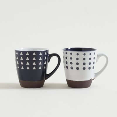 JARRITO MUG PSICO WHITE  BLUE CON BASE 236 ML