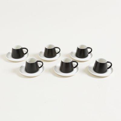 SET X 6 POCILLOS CONICOS Y PLATOS DE CAFE  ESTAMBUL 60 ML